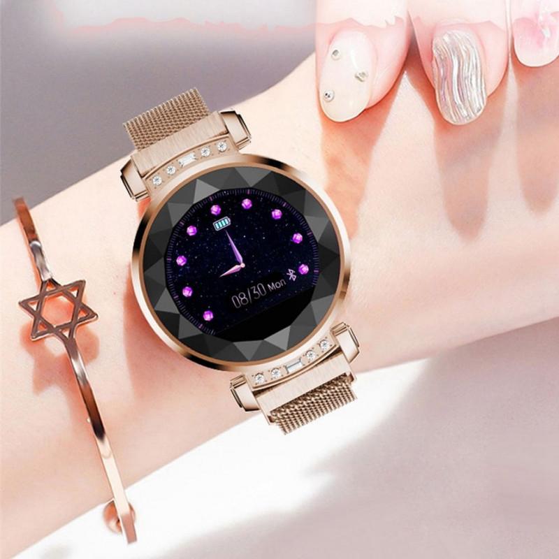 Умные часы для женщины Diamond Gold